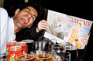 Islamic extremeist Anjem Choudary in his student days, with booze, porn and spliff. RE Neil Sears