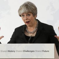 Theresa May in Florence