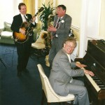 Wedding party with Henry Phillpotts, Colin Ford