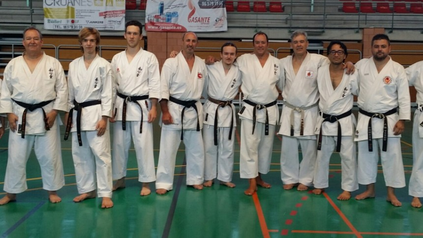 Al Morton with family and Sensei Abad