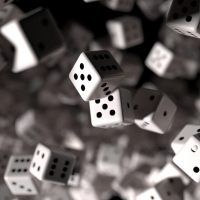 Falling dice by Elliot Morton